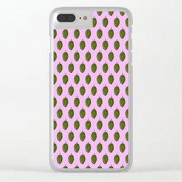 Hops Light Purple Pattern Clear iPhone Case