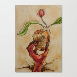 The Soul of a Woman was Created Below Canvas Print