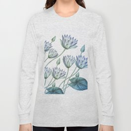 Water Lily Blue Long Sleeve T-shirt