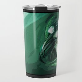 The green punk Travel Mug