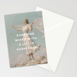 Sunshine Mixed With a Little Hurricane, Feminist Stationery Cards