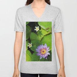 Fleur de nénuphar Unisex V-Neck