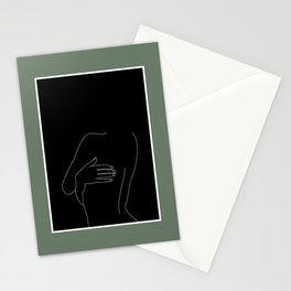 Nude figure line drawing illustration - Kat Stationery Cards