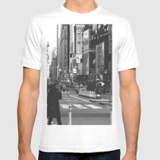 Let my imagination go (B&W) White Mens Fitted Tee MEDIUM