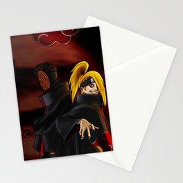 tobi  and deidara Stationery Cards