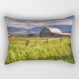 Mormon Row - Grand Teton National Park, Wyoming Rectangular Pillow