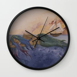 Navigating the Waters Wall Clock