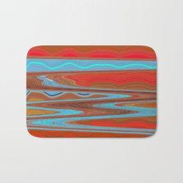 Abstract Retro Lava Water Deep Earth Landscape Bath Mat