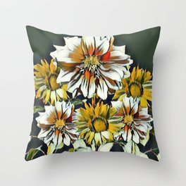WHITE & YELLOW FLOWER STILL LIFE PASTELS Throw Pillow