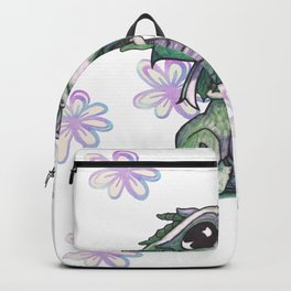 Baby Dragon with Flowers Backpack