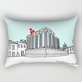 O galo voou em Évora! Rectangular Pillow