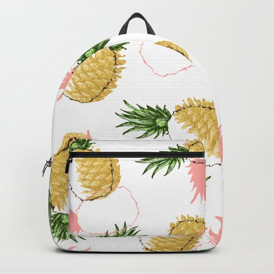 Pineapples & Pine Cones #society6 #decor #buyart Backpack