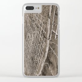 Map of Iowa City - Iowa - 1868 Clear iPhone Case