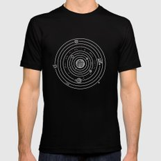 SOLAR SYSTEM Black Mens Fitted Tee MEDIUM