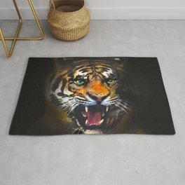 tiger in the dark Rug