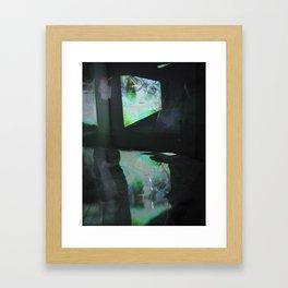 reflection pool Framed Art Print