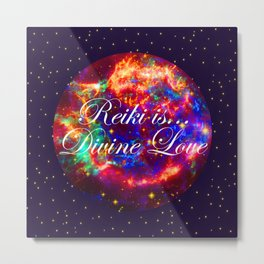 Reiki is Divine Love | The Energy it Flows | Going with the Flow Metal Print