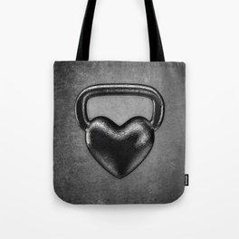 Kettlebell heart / 3D render of heavy heart shaped kettlebell Tote Bag