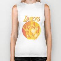 lakers Biker Tanks featuring Lakers by Istvan Antal