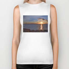 Twin Light Sunrise Biker Tank