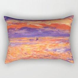 "Auguste Renoir ""Sunset at sea"" Rectangular Pillow"