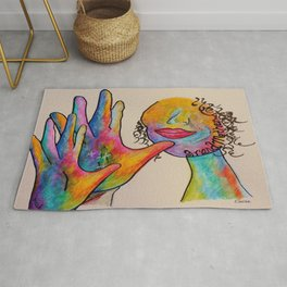 American Sign Language Grandmother Rug