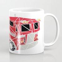 optimus prime Mugs featuring The Optimus Prime by Josh Ln