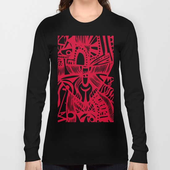 INK#6 Red Mask Long Sleeve T-shirt