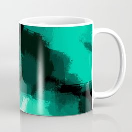 Emmy - Emerald green abstract art Coffee Mug