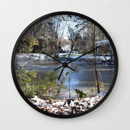 Snowing in Savannah Ga. Wall Clock