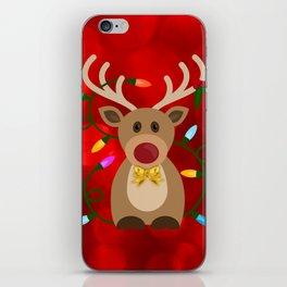 Christmas Reindeer in Lights iPhone Skin