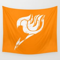 fairy tail Wall Tapestries featuring Fairy Tail Segmented Logo (Guild Hall) by JoshBeck