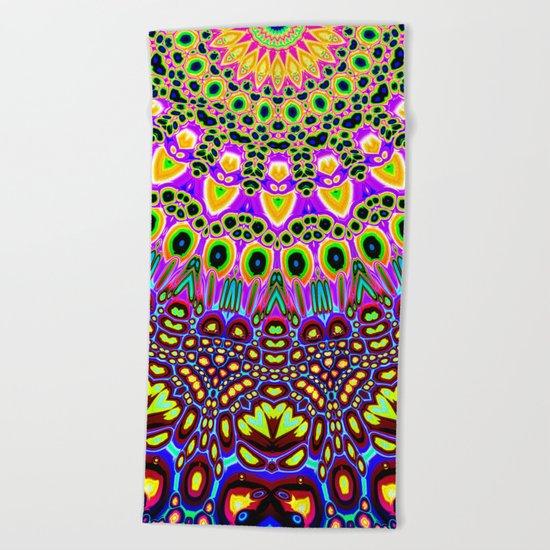 Vibrant Pop Art Pattern Beach Towel