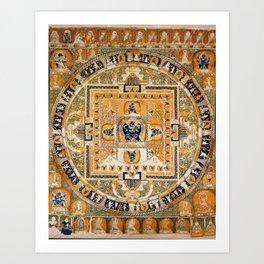 Buddhist Mandala 42 Vajrabhairava Art Print