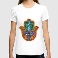 hamsa T-shirts featuring Hamsa  by Fortissimo6