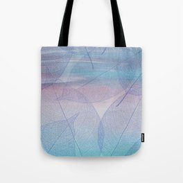 Painterly Pastel Leaves Abstract Tote Bag