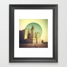 Line of Sight Microwave Tower Framed Art Print