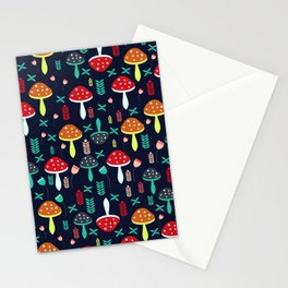 Multicolored mushrooms Stationery Cards