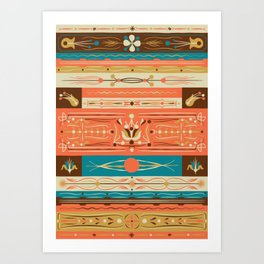 Filetagem Traditional Brazillian Truck Art Art Print