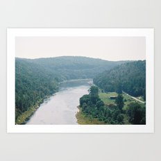 Living by the Susuequenna River Art Print