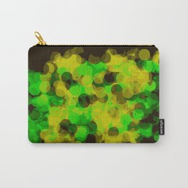 green and yellow painting circle pattern with black background Carry-All Pouch
