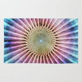 Textured Mandala Tie Dye Rug