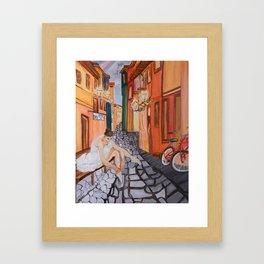 Ballerina in Venice .... Framed Art Print