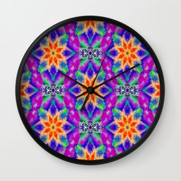 Psychedelic Garden of  Love.... Wall Clock