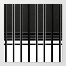 Modern Minimalist Black and White Stripes Canvas Print
