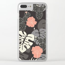 Tropical pattern 056 Clear iPhone Case
