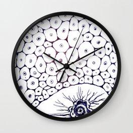 Intruder in a biological structure  Wall Clock