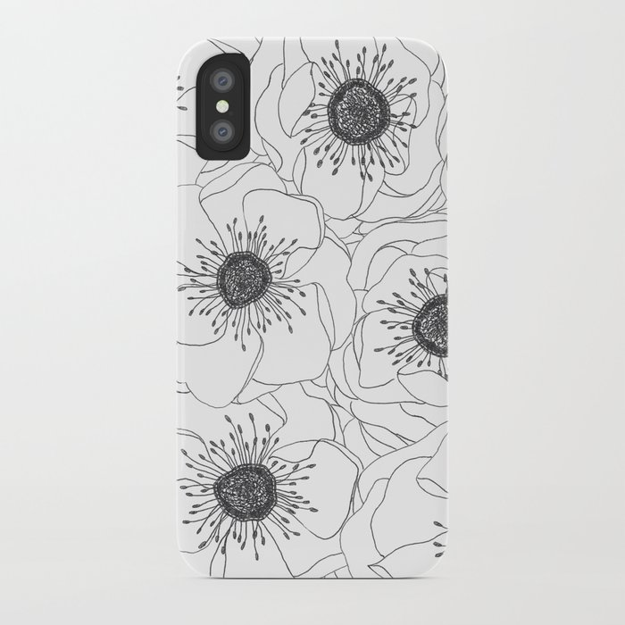 White Anemones iPhone Case