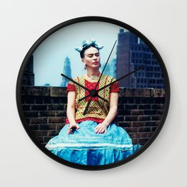 FRIDA IN NEW YORK Wall Clock