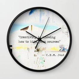 C.E.M. Joad quote Wall Clock
